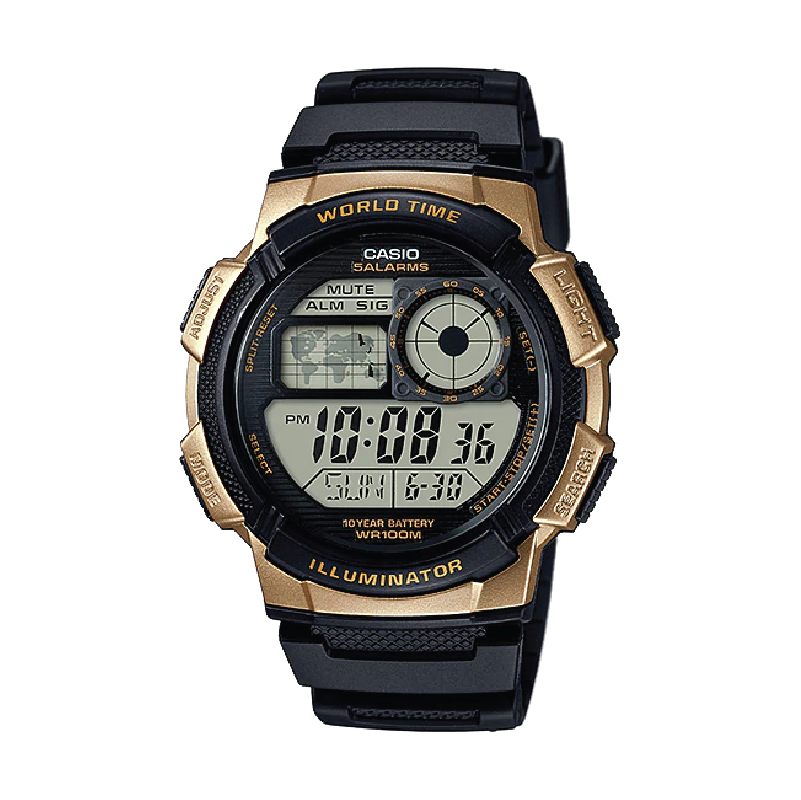 CASIO WORLDTIME AE-1000W-1A3 PIN 10 NĂM