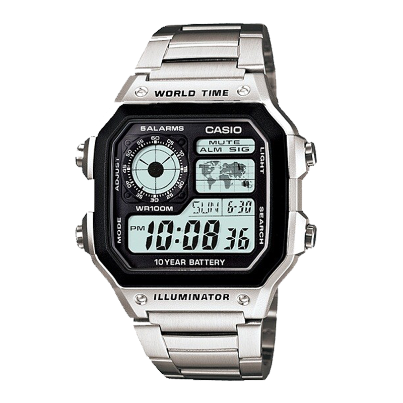CASIO WORLDTIME AE-1200WHD-1A PIN 10 NĂM