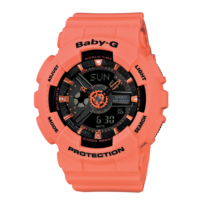 BABY-G BA-111-4A2 ORANGE BLACK | BA-111-4A2DR