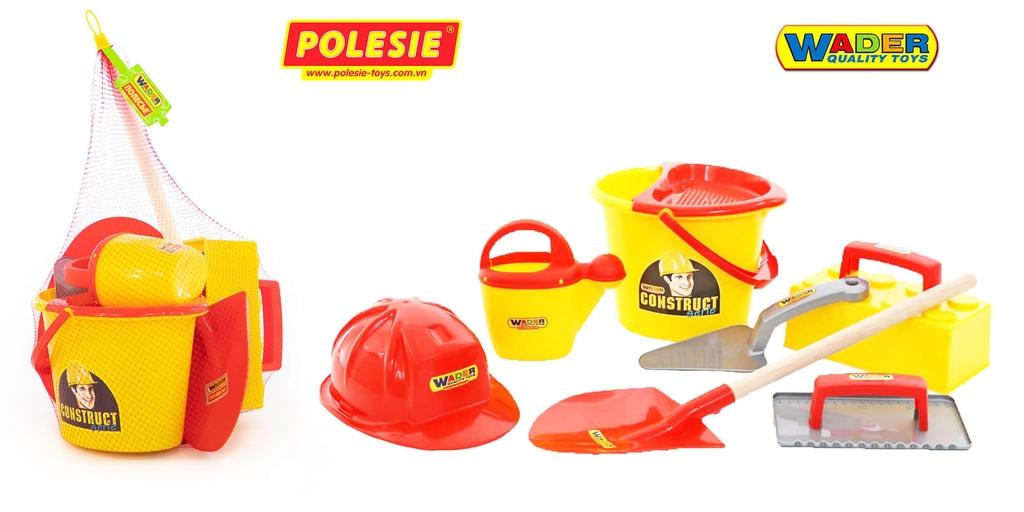 quy cách túi lưới bộ đồ chơi dụng cụ xây dựng số 7 Wader Polesie Việt Nam