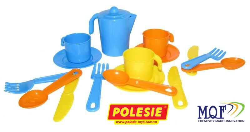 đồ chơi bé gái bộ pha trà cho 3 người Anyuta Polesie VN