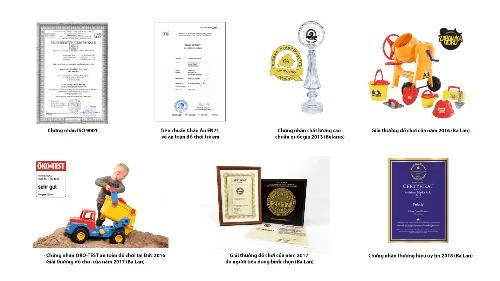 các giấy chứng nhận chất lượng và giải thưởng của đồ chơi polesie