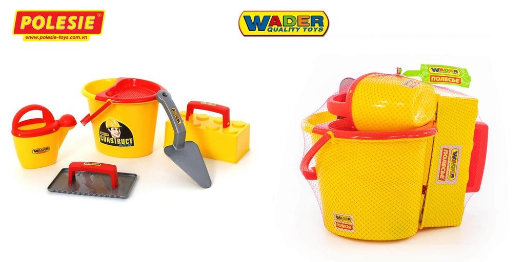 quy cách gói lưới bộ đồ chơi dụng cụ xây dựng số 3 Wader Polesie Toys