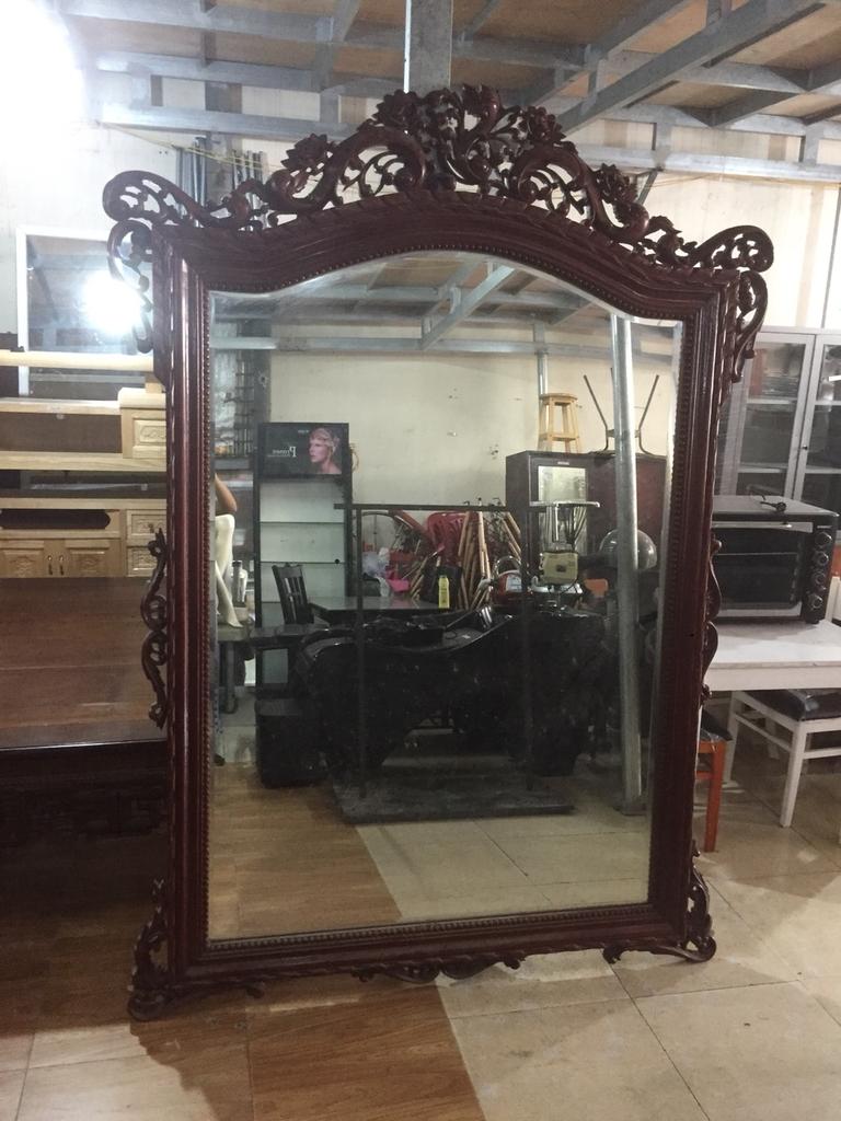 Gương Treo tường gỗ | Đồ cũ Hải phòng, Chợ đồ cũ hải phòng 0834 567 824