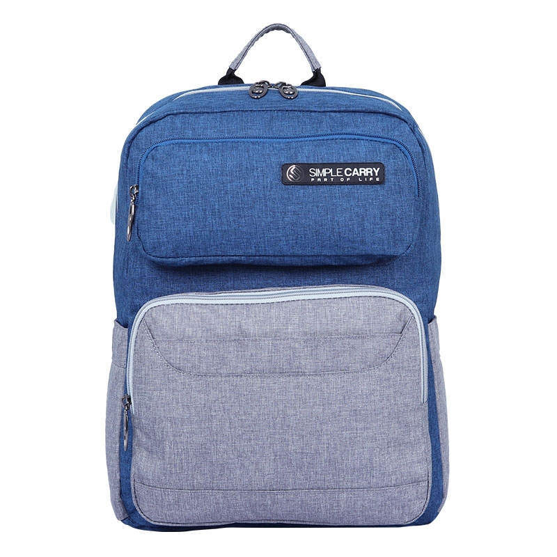 Balo laptop SimpleCarry Issac1 Navy/Grey