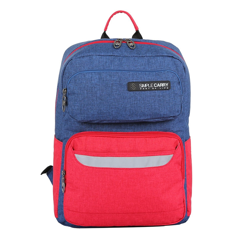 Balo laptop SimpleCarry Issac1 Navy/Red