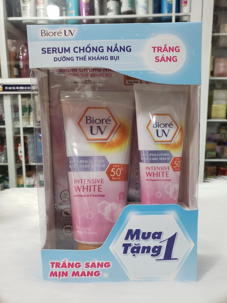 SERUM CHỐNG NẮNG DƯỠNG THỂ BIORE UV ANTI-POLLUTION BODY CARE SERUM INTENSIVE WHITE SPF50+ PA+++ (150ML)