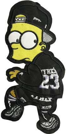 BART SIMPSON STICKER 41 - A4 (21cm)