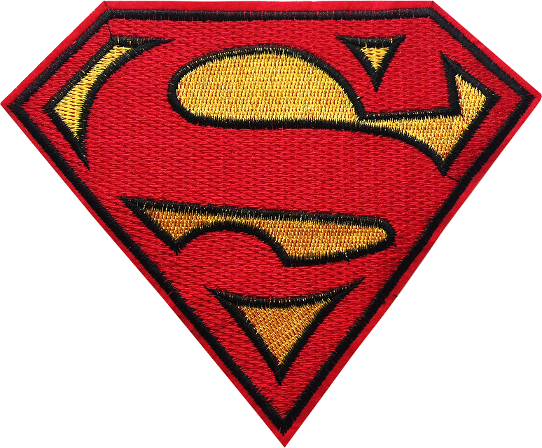 LOGO SUPER MAN STICKER 129 - A5 (14cm