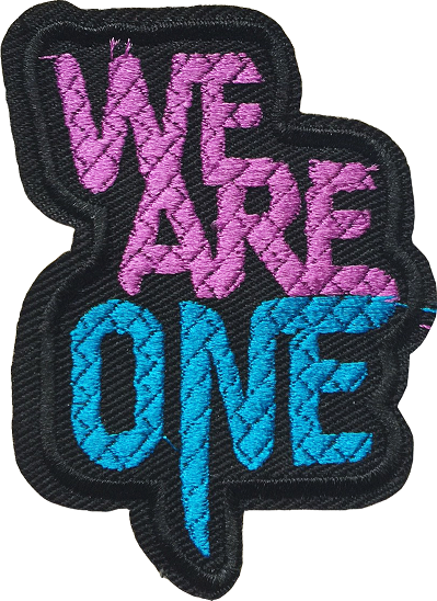 CHỮ WE ARE ONE STICKER 95 - A7 (7cm)