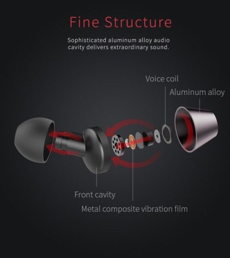 Tai nghe Rock Mufree stereo Earphone.