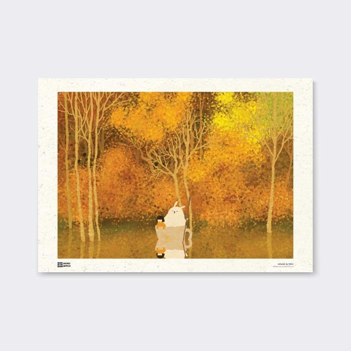 Tranh Poster Autumn | Đốm Illustration