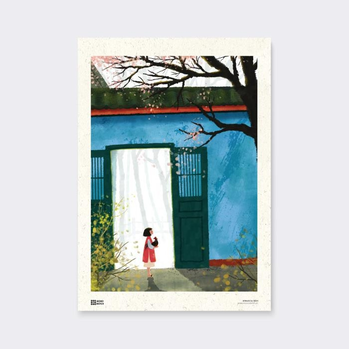 Tranh Poster East Wind | Đốm Illustration