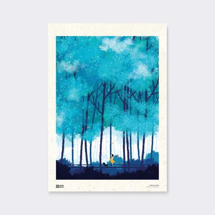 Tranh Poster Summer Blue | Đốm Illustration