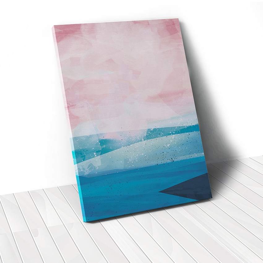 Tranh canvas Abstract Sea, Blue, Pink