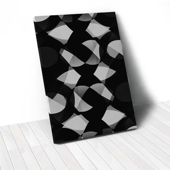 Tranh Polygon abstract, black