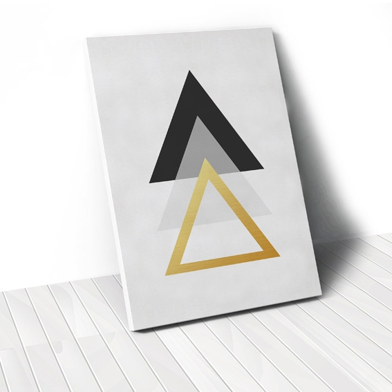 Tranh Gold triangle geometric