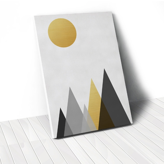 Tranh Gold Mountain geometric