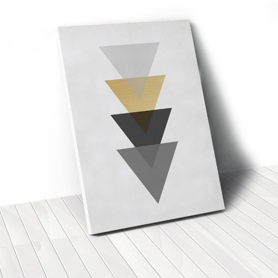 Tranh Gold triangle geometric 2