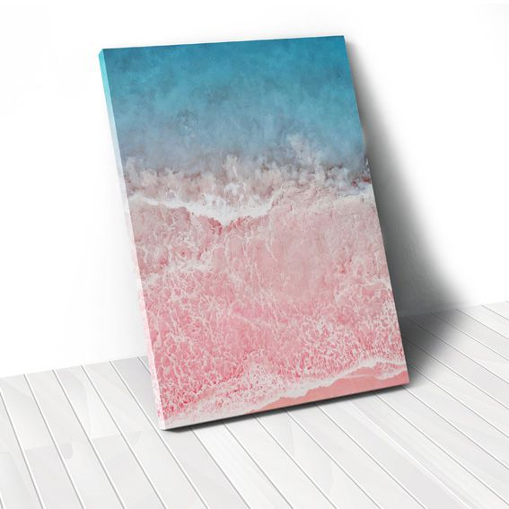 Tranh canvas Seaside, Blue, Pink