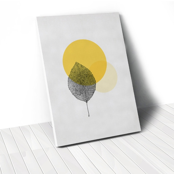 Tranh canvas Leaf geometric
