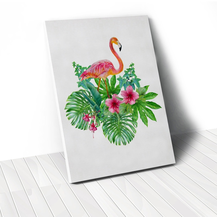 Tranh Flamingo tropical