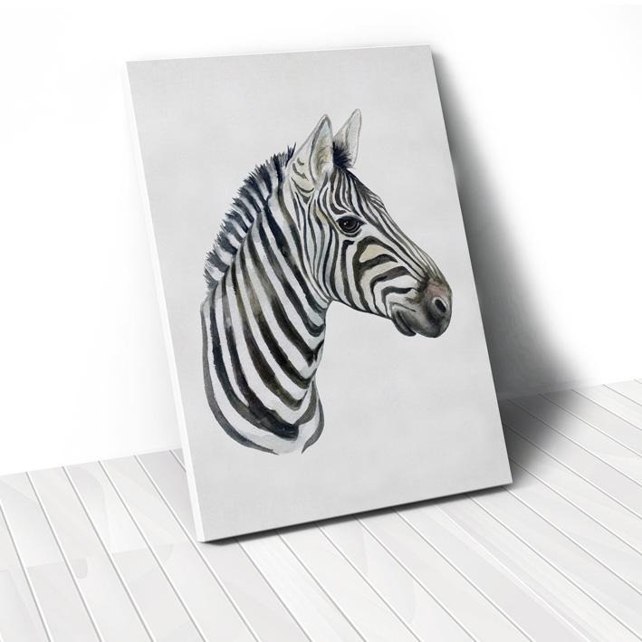 Tranh Watercolor Zebra