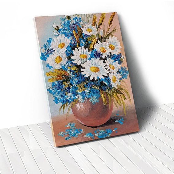 Tranh canvas Daisy Flower Vase