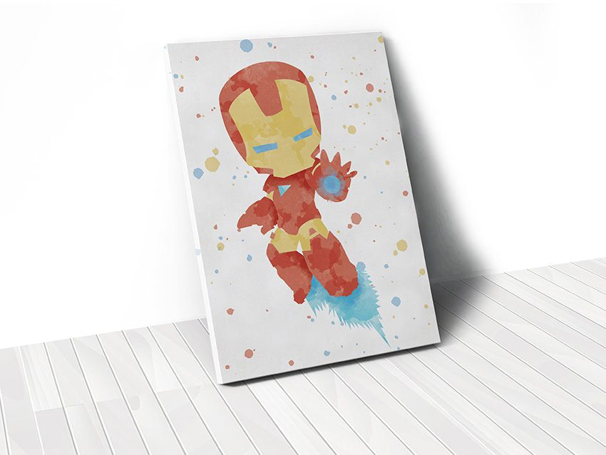 Tranh Iron man watercolor