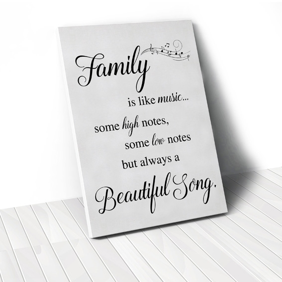 Tranh Family is like music quote