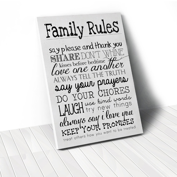 Tranh Family rules, white