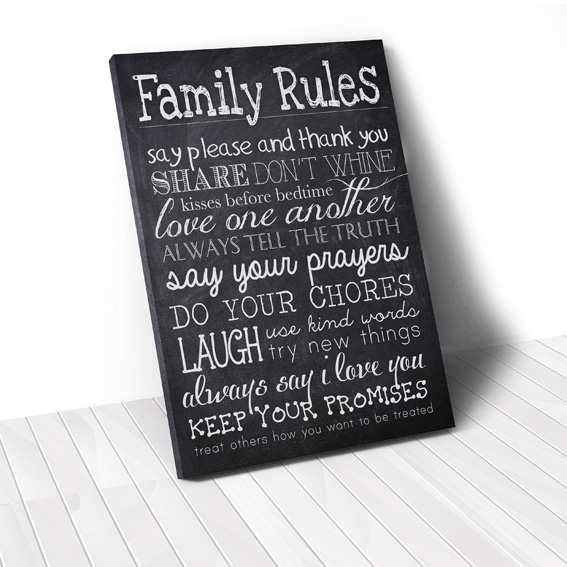 Tranh Family rules, black