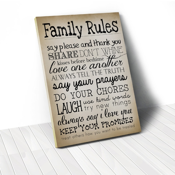 Tranh Family rules, vintage