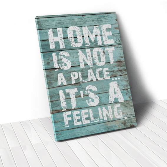 Tranh Home is not a place, wood