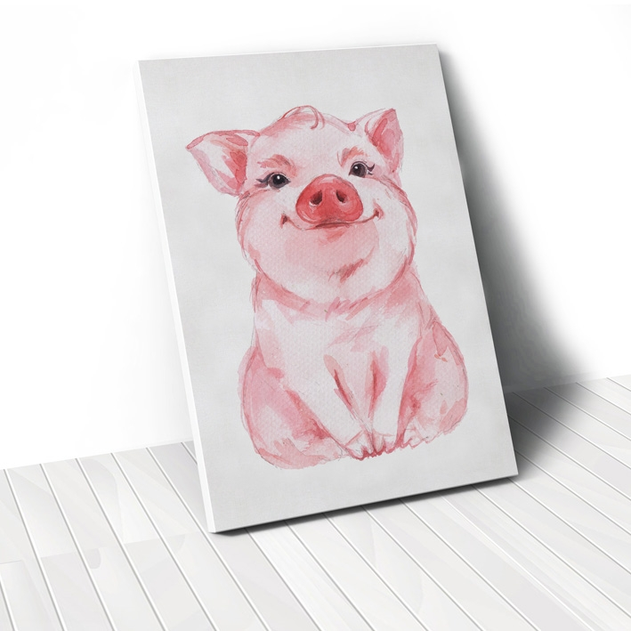 Tranh Pig watercolor