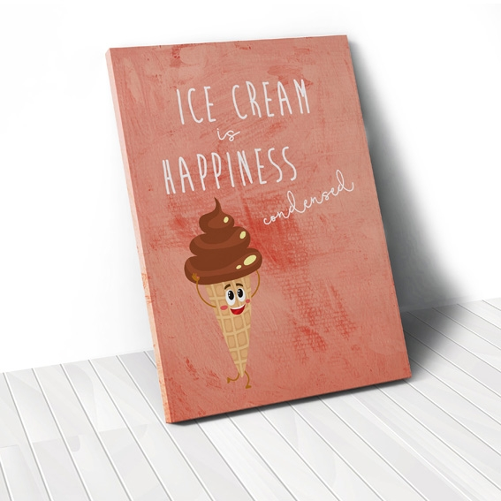 Tranh Ice cream quote