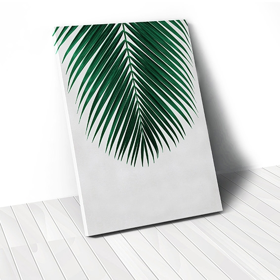 Tranh canvas Green Coconut Leaf