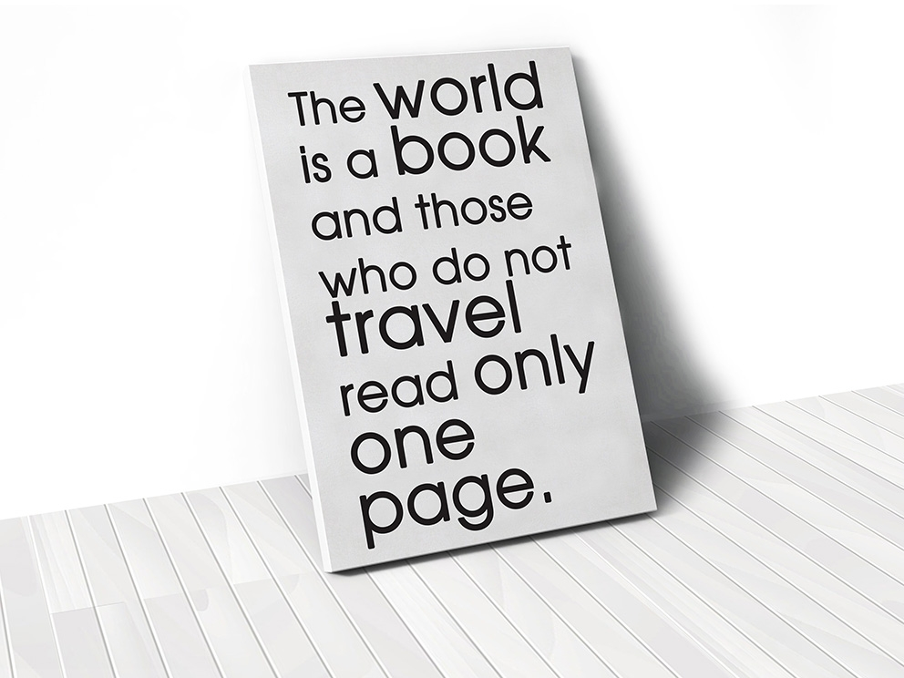 Tranh The world is a book quote
