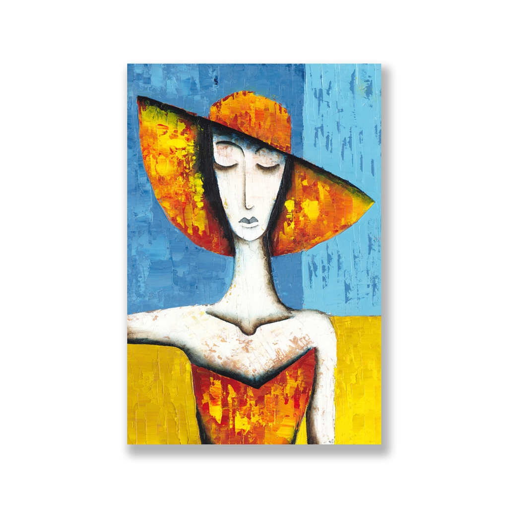 Tranh The girl fashion abstract painting