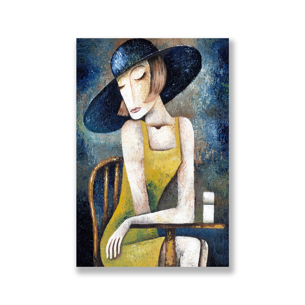 Tranh The girl abstract painting S0088