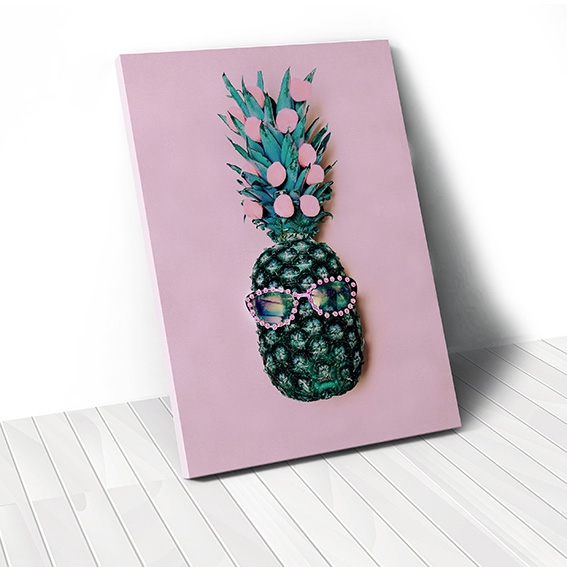 Tranh canvas Fashion Pineapple, Pink