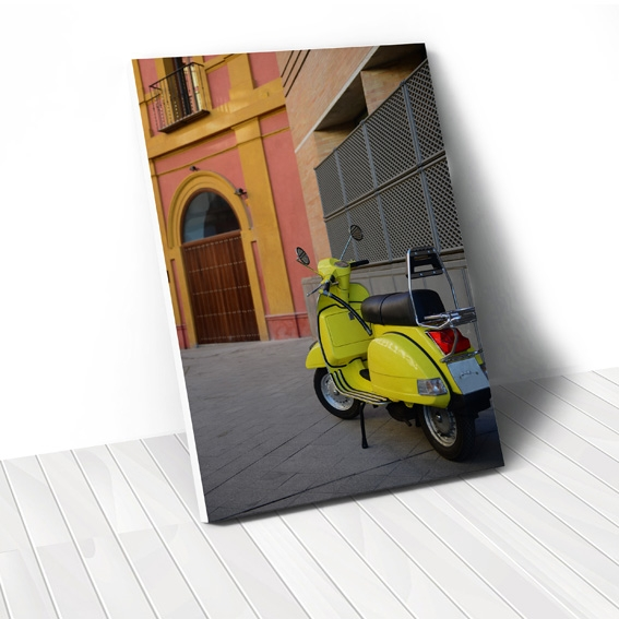Tranh canvas Yellow Vespa