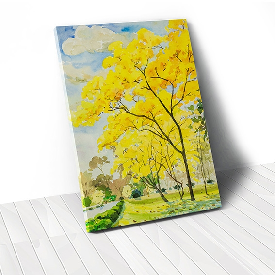 Tranh canvas Autumn Tree, Yellow Leaves