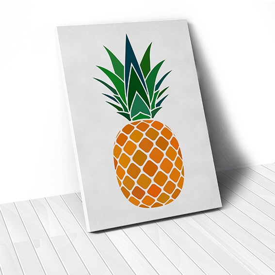 Tranh canvas Pineapple, Digital art
