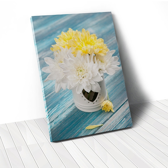 Tranh canvas White & Yellow Flower