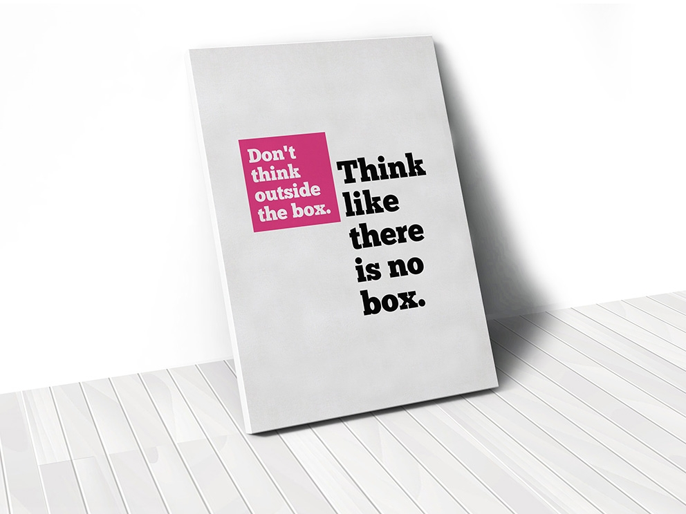 Tranh Think like there is no box