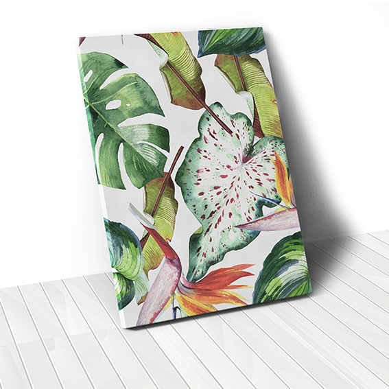 Tranh canvas Watercolor Leaves Pattern