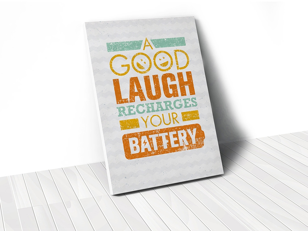 Tranh A good laugh recharges your battery