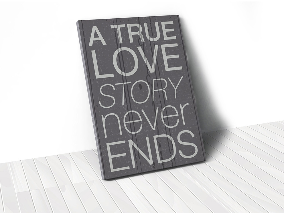 Tranh A true love story never ends
