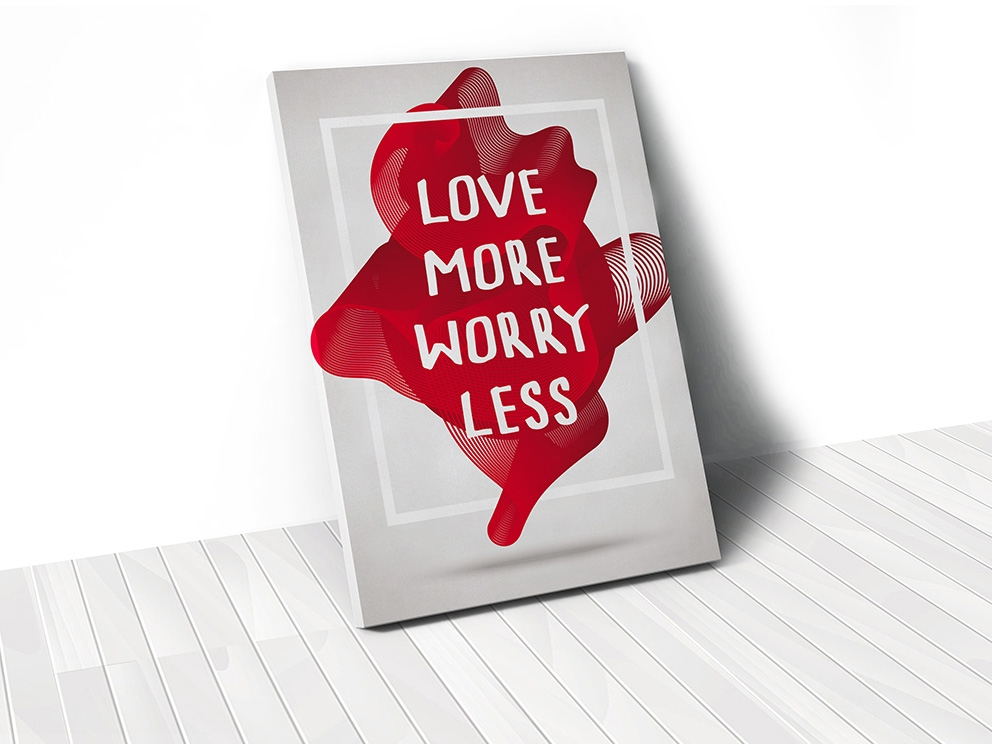 Tranh Love more worry less